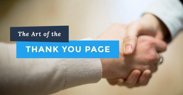 صفحه تشکر thank you page